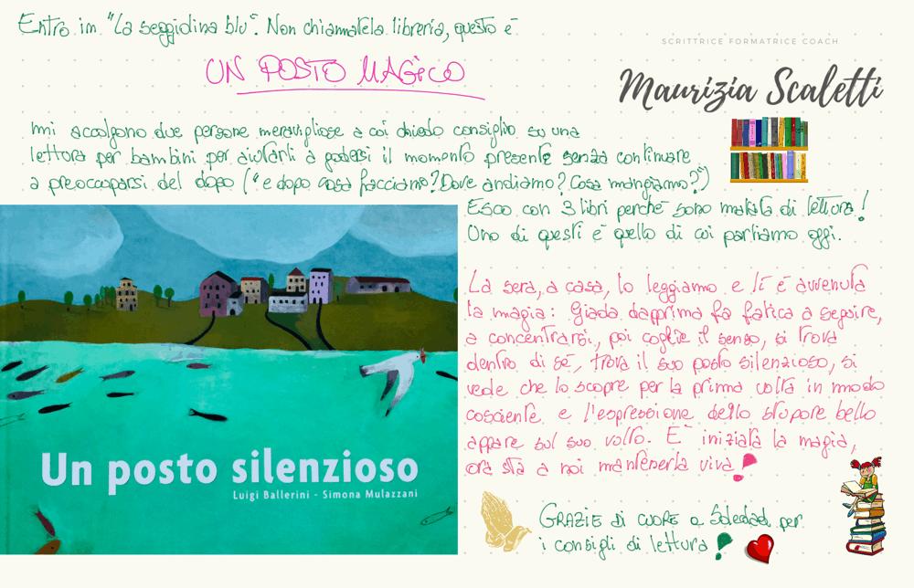 maurizia scaletti book review - un posto silenzioso